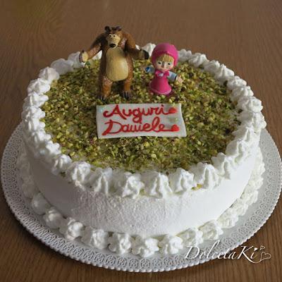 torta panna masha e orso