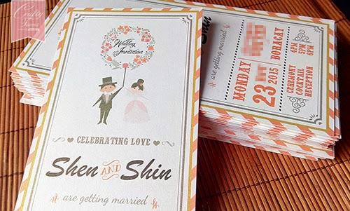 Wedding card malaysia crafty farms handmade orange themed orange themed cartoon wedding invitation card printing boracay phillipines malaysia kuala lumpur stopboris Gallery