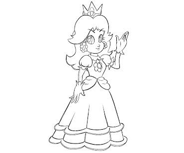 #13 Princess Daisy Coloring Page