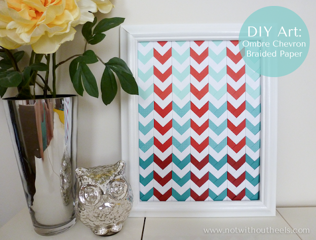 DIY Ombre Chevron Braided Paper