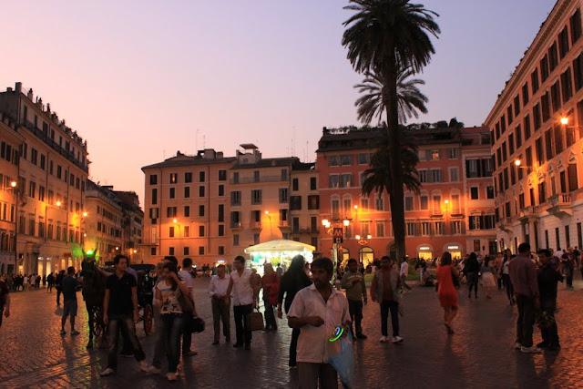 Piazza di Spagna or Spanish Square in Rome, Italy