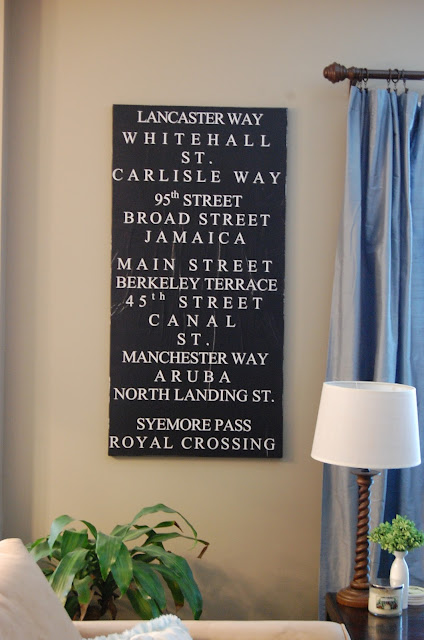 DIY: Handmade Subway Sign