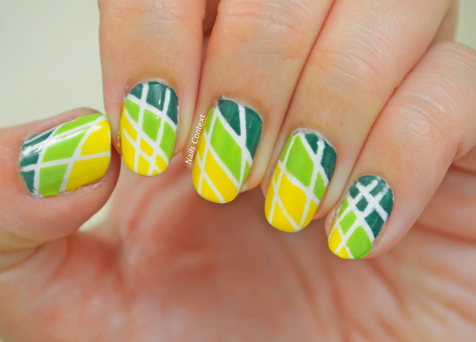 Nails Context Tutorial Colorblock Nails