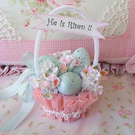 Украса за Великден – кошничка за яйца