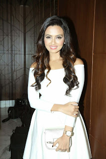 Sana Khan in Extremely Stunning White Short Dress at bok launch of Aarya Babbar