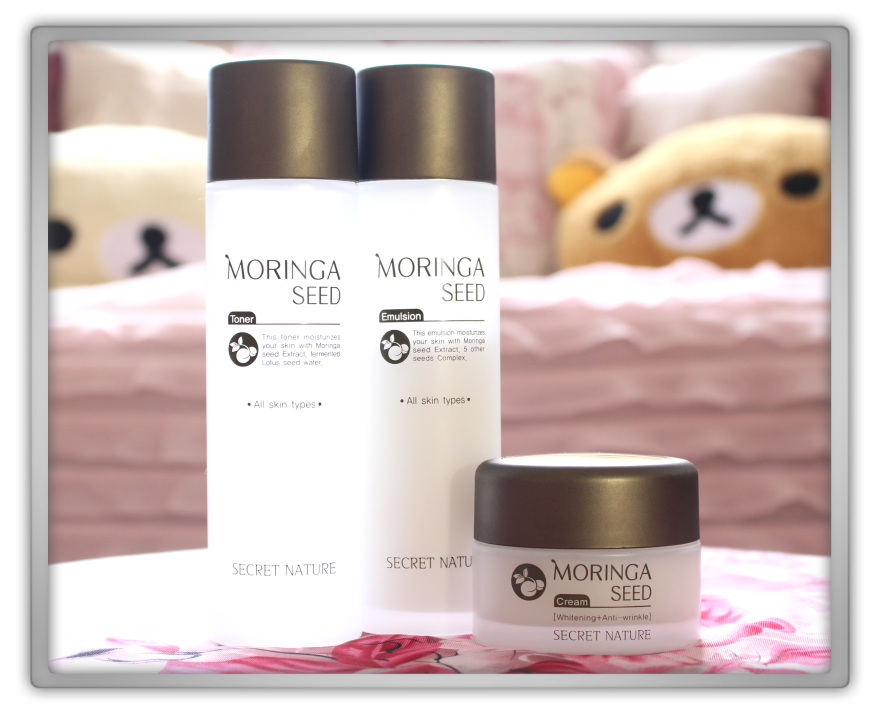 Secret Nature Moringa Seed products Haul Review preview honest pink korean cosmetics skincare asian rilakkuma flowers memebox jolse 1