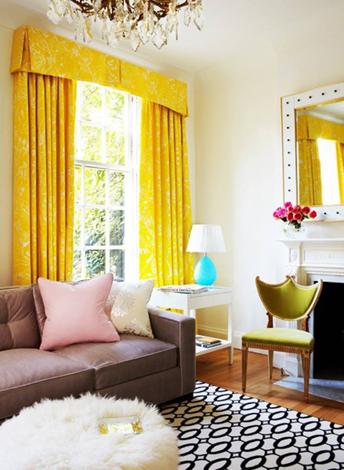 Modern furniture 2013 luxury living room curtains designs for Yellow modern living room ideas