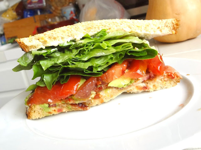 BLAT Bacon, Lettuce, avocado, tomato