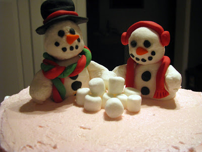 Winter cake Snowman