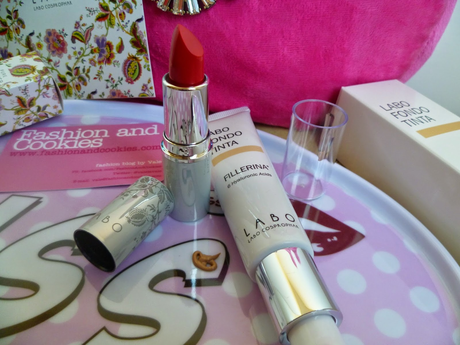 Labo make-up, Labo fillerina, Labo red lipstick, Labo fillerina fondotinta, Fashion and Cookies, fashion blogger, fillerina review
