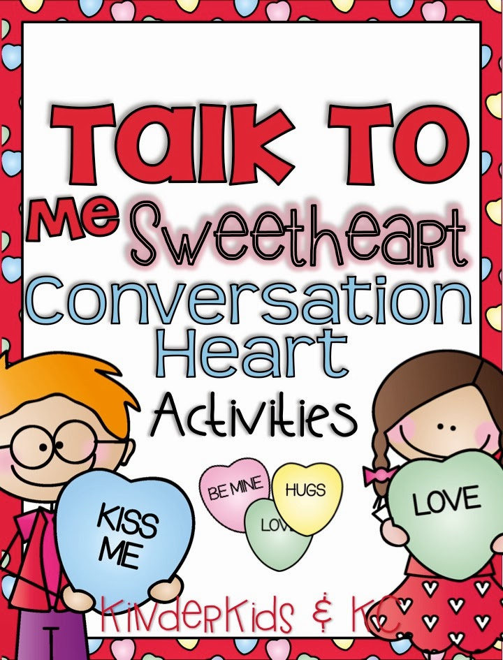 http://www.teacherspayteachers.com/Product/Talk-to-Me-Sweetheart-Conversation-Heart-Activities-1102893