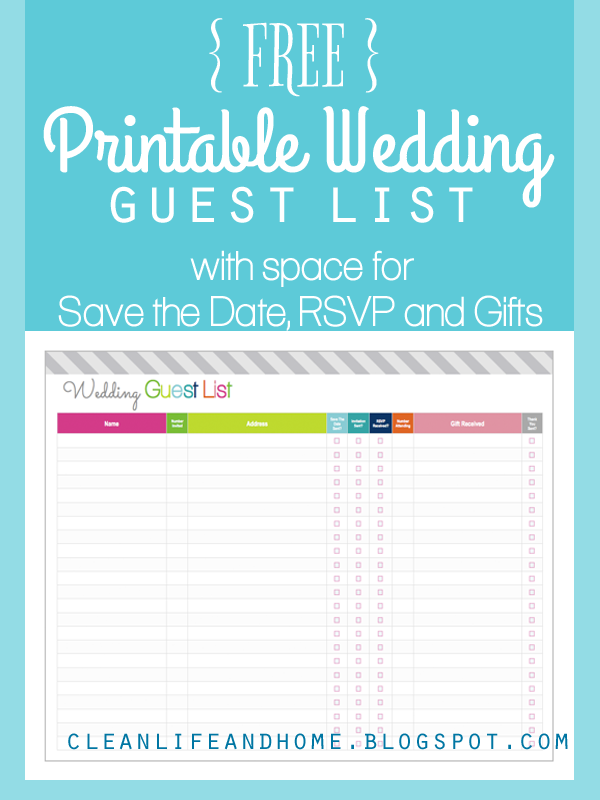 Free Printable Wedding Planning Checklist