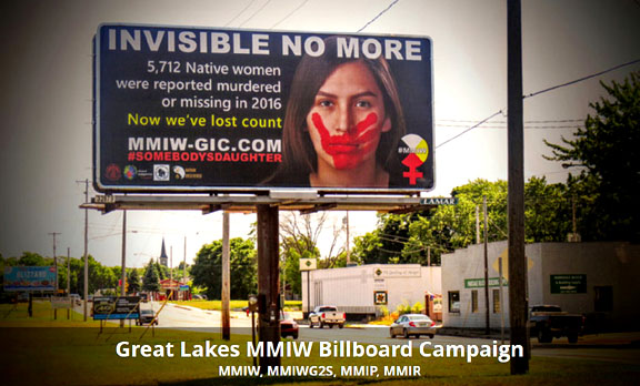 Great Lakes MMIW Billboard Campaign seeks support
