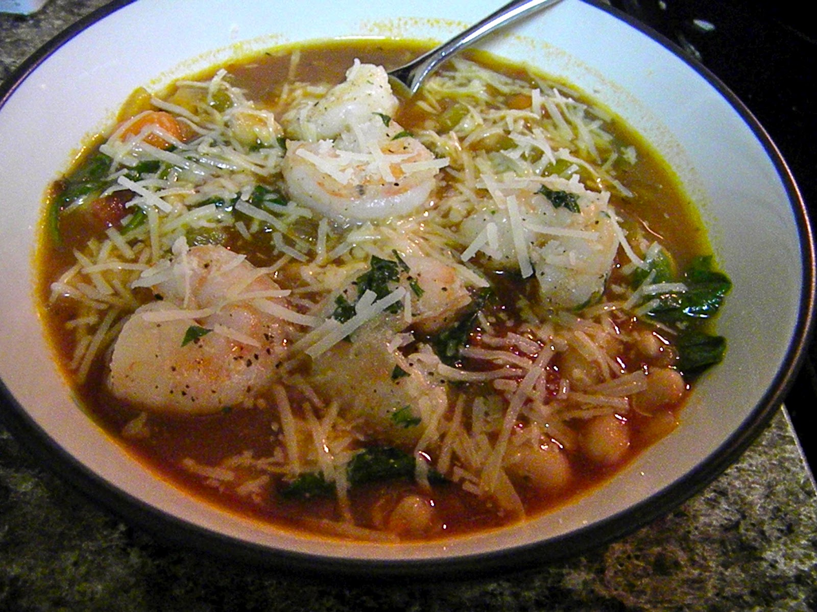 Gluten Free with Julie B: Tuscan Bean Soup with Shrimp