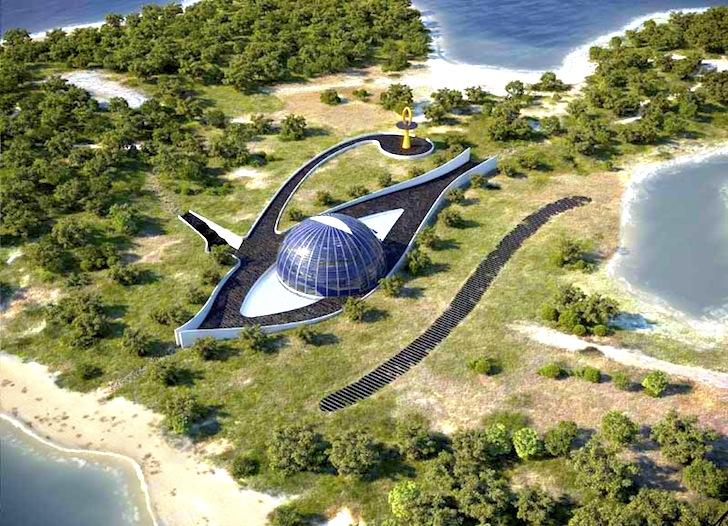 Rumah-eko Naomi Campbell di pulau di Turki berbentuk Eye of Horus