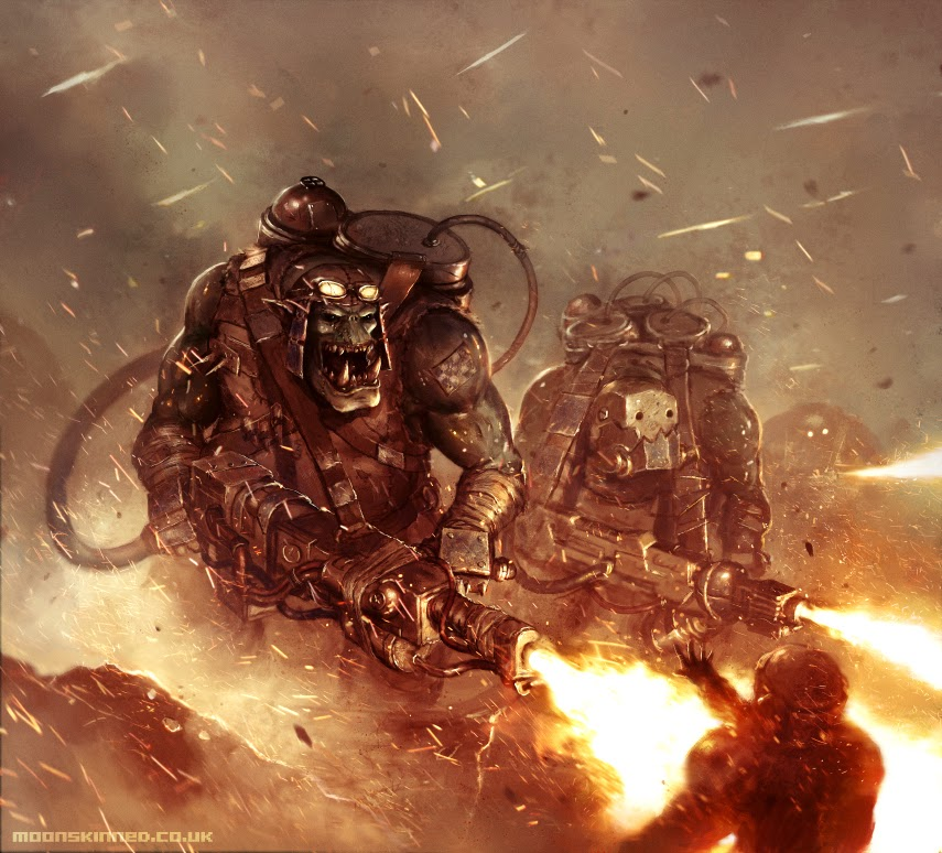 Sam Lamont Artist Inteview Warhammer 40,000 Conquest Burna Boys
