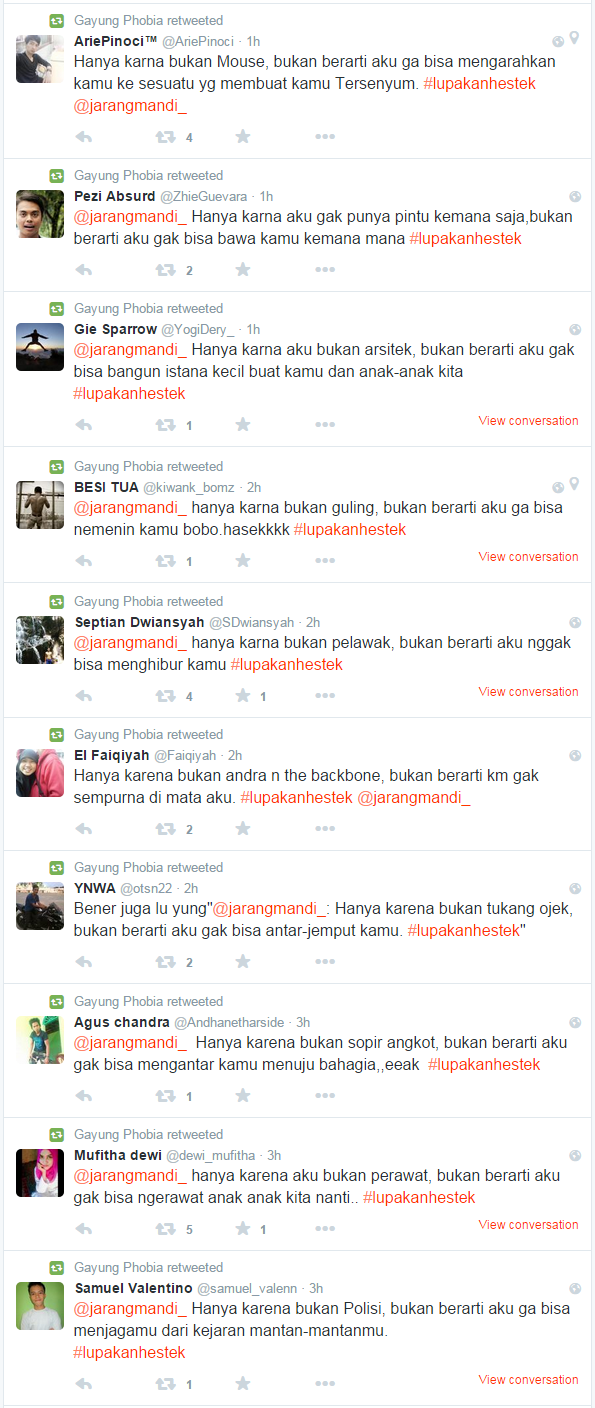 #LupakanHestek Follower JarangMandi_