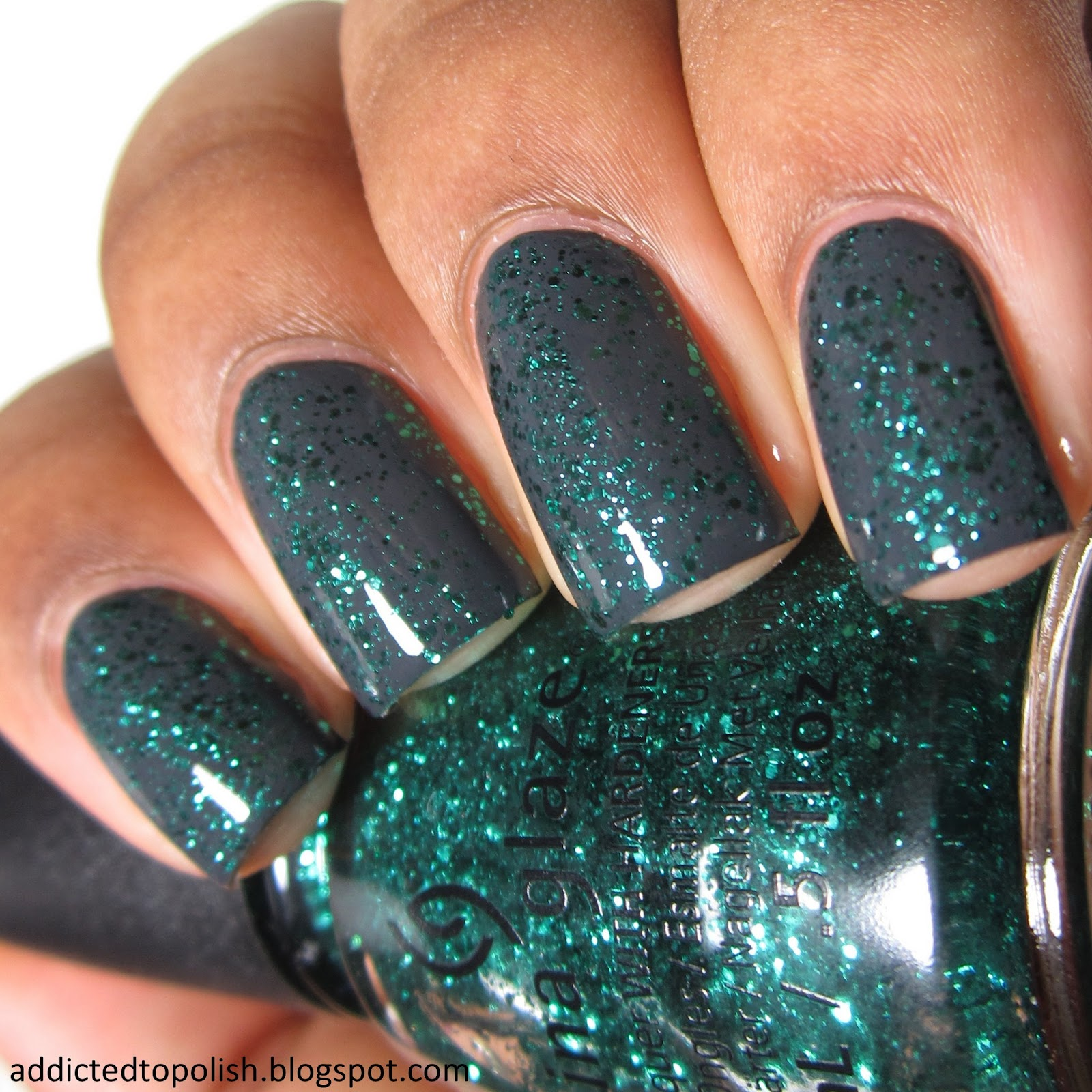 China Glaze Pine-ing for Glitter over Out Like a Light