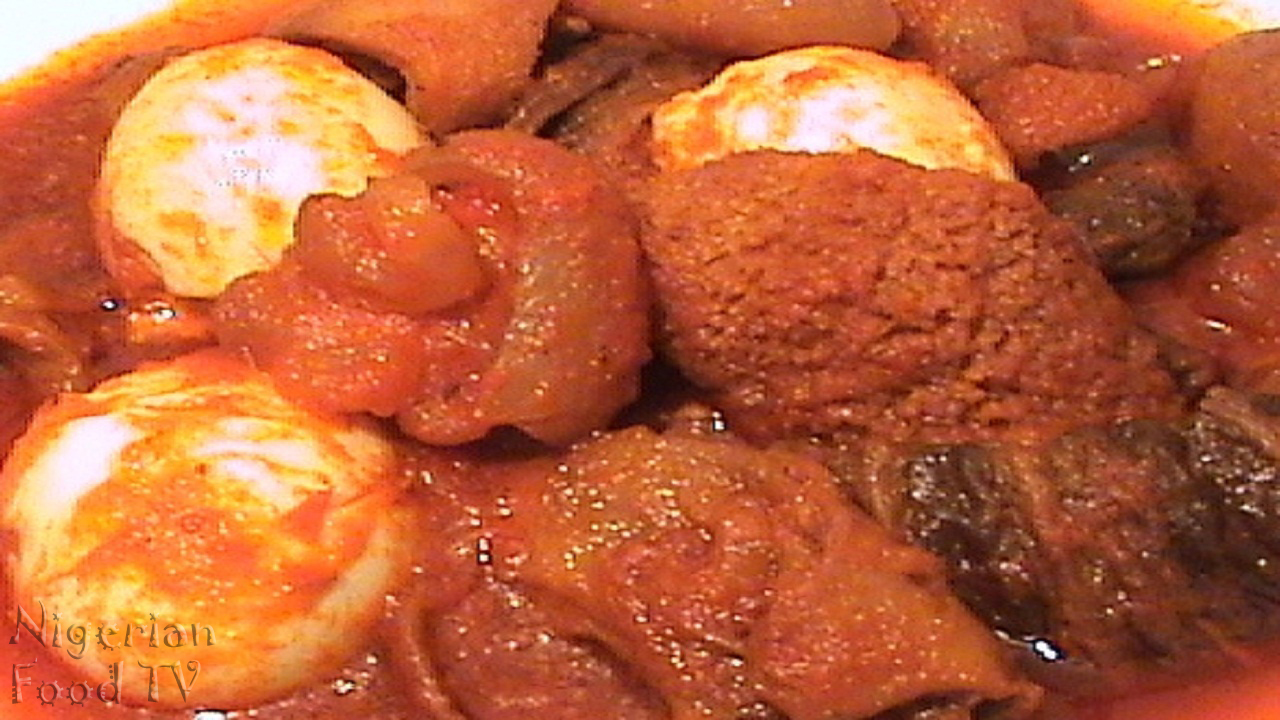 Nigerian buka stew, buka stew recipe, fried pepper stew,  obe ata