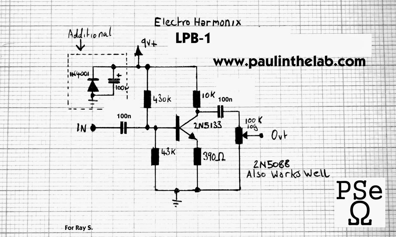 guitar fx layouts  electro harmonix lpb1 with trimmer