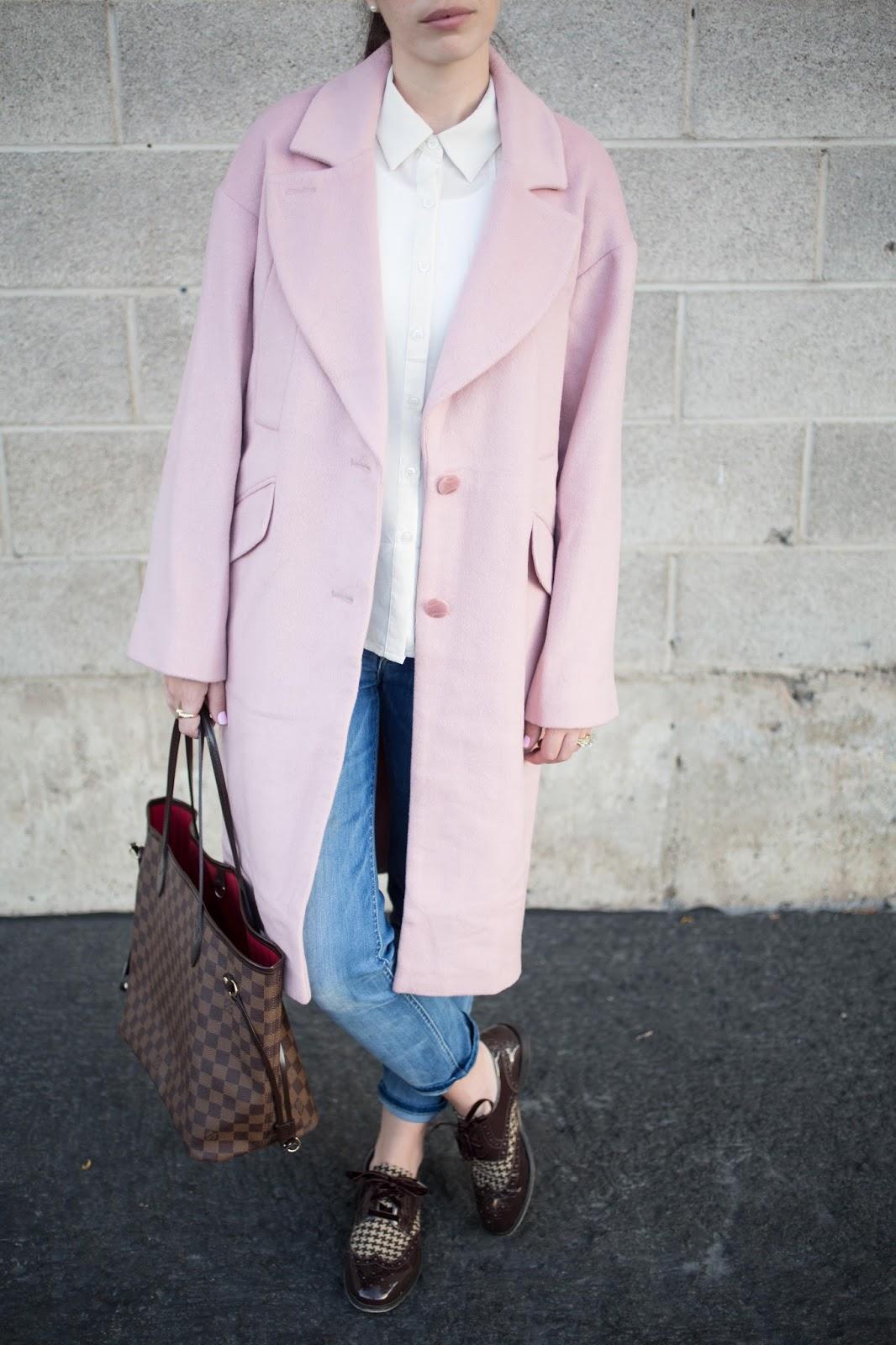 Asos Cocoon Coat in Pink
