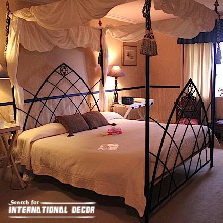 four poster bed canopy, canopy bed, romantic bedroom, iron bed designs