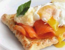 Receta Tostada de Salmon y Huevo