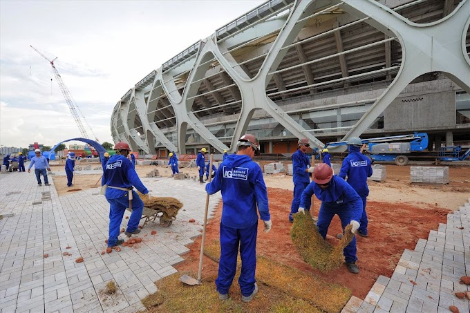 Com execução de acabamentos, obra da Arena da Amazônia segue com 93,31% de execução