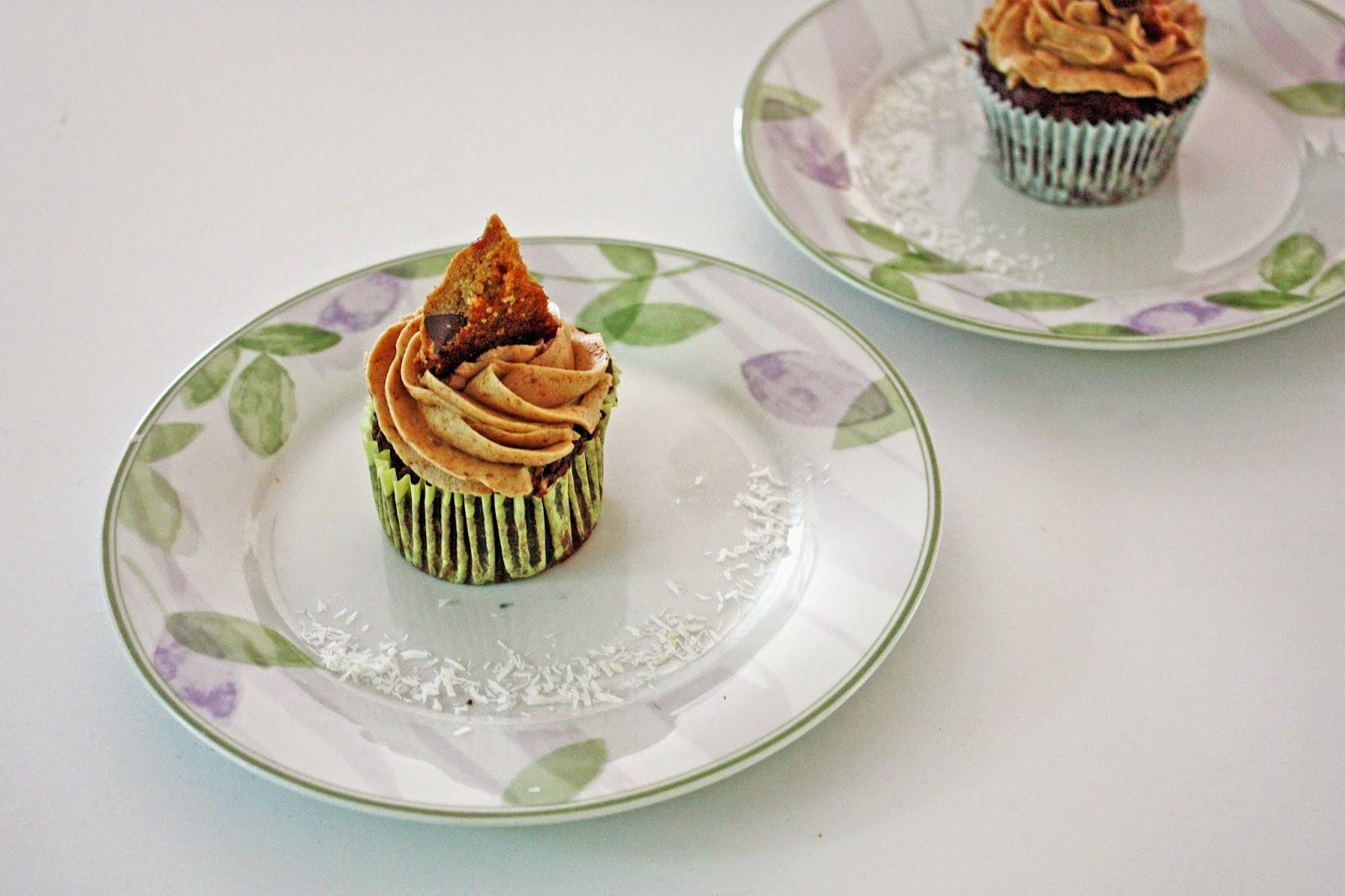vegan chocolate coconut zucchini cupcakes