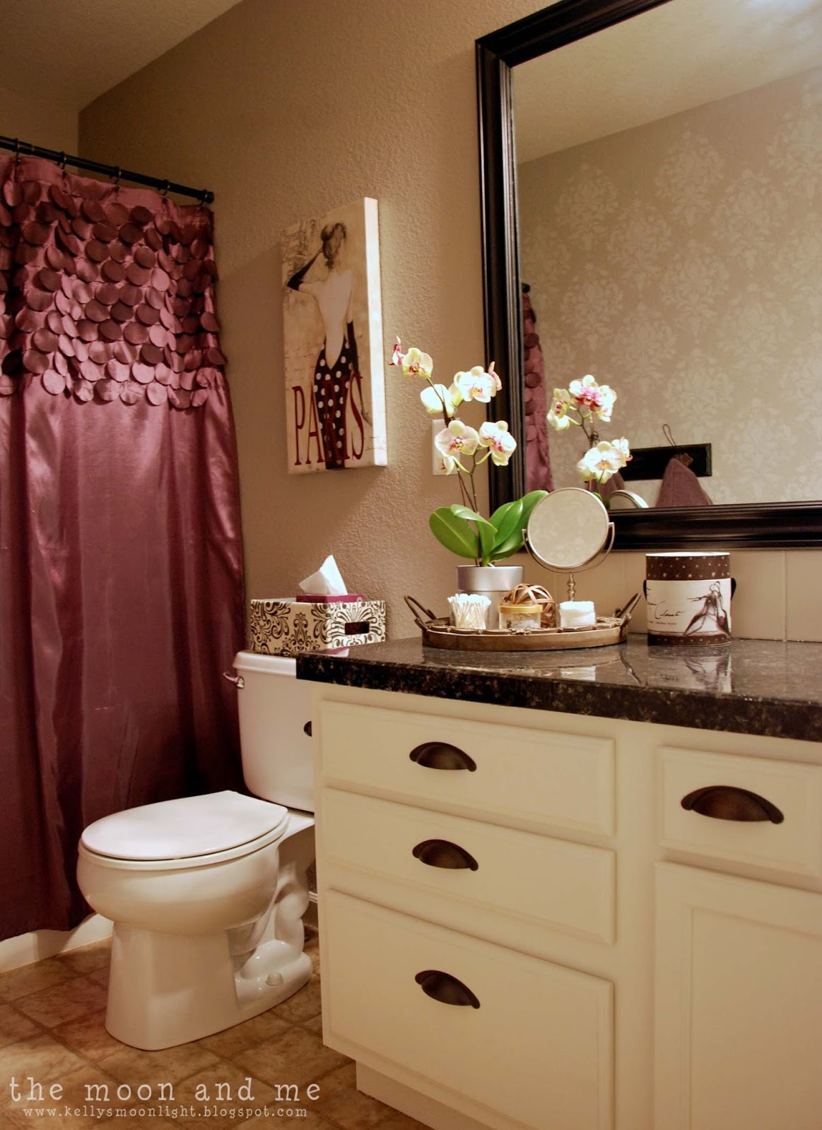 The moon and me glam guest bath makeover for Guest bathroom makeover