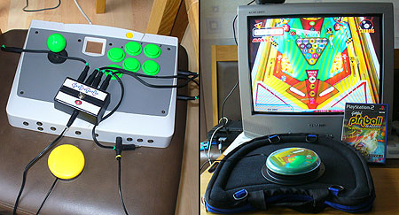 Gottlieb Pinball made one-switch accessible. Equipment used: C-SID interface (pictured) with DDR box, Able-Net Big-Red switch and Trabasack.