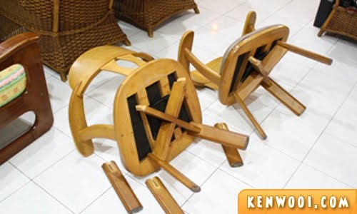 broken chairs