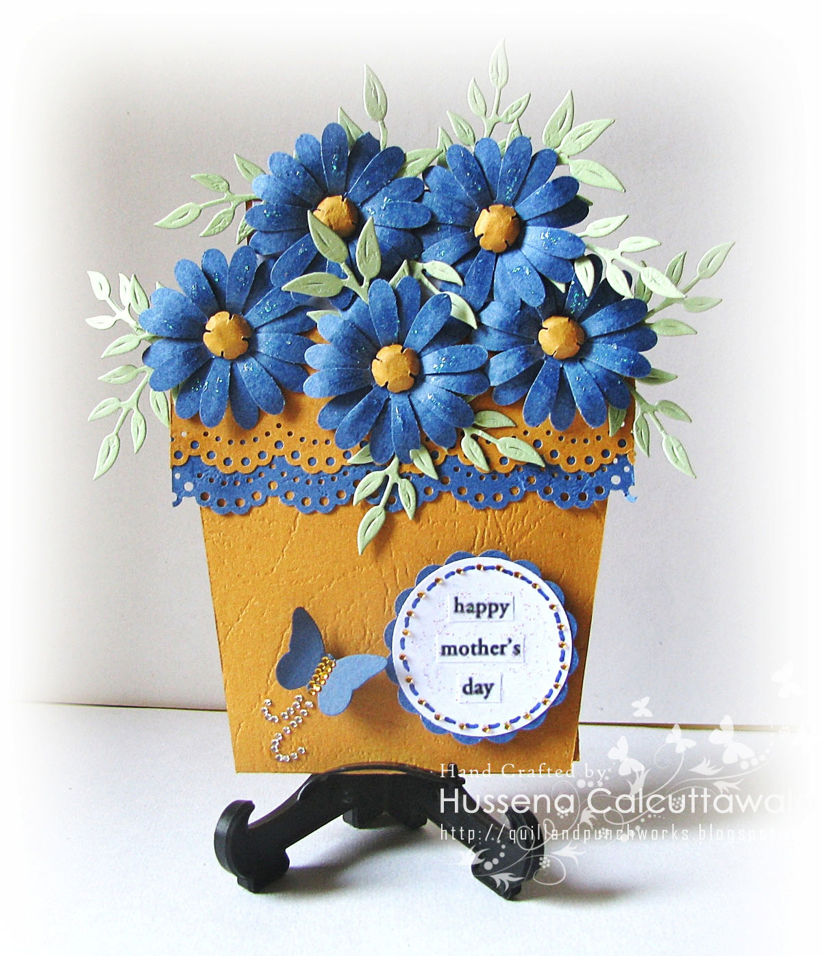 Quill And Punch Works My First Ever Flower Pot Card