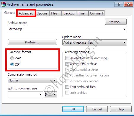 Add set password to windows 7 8 zip file folder for Window zip file