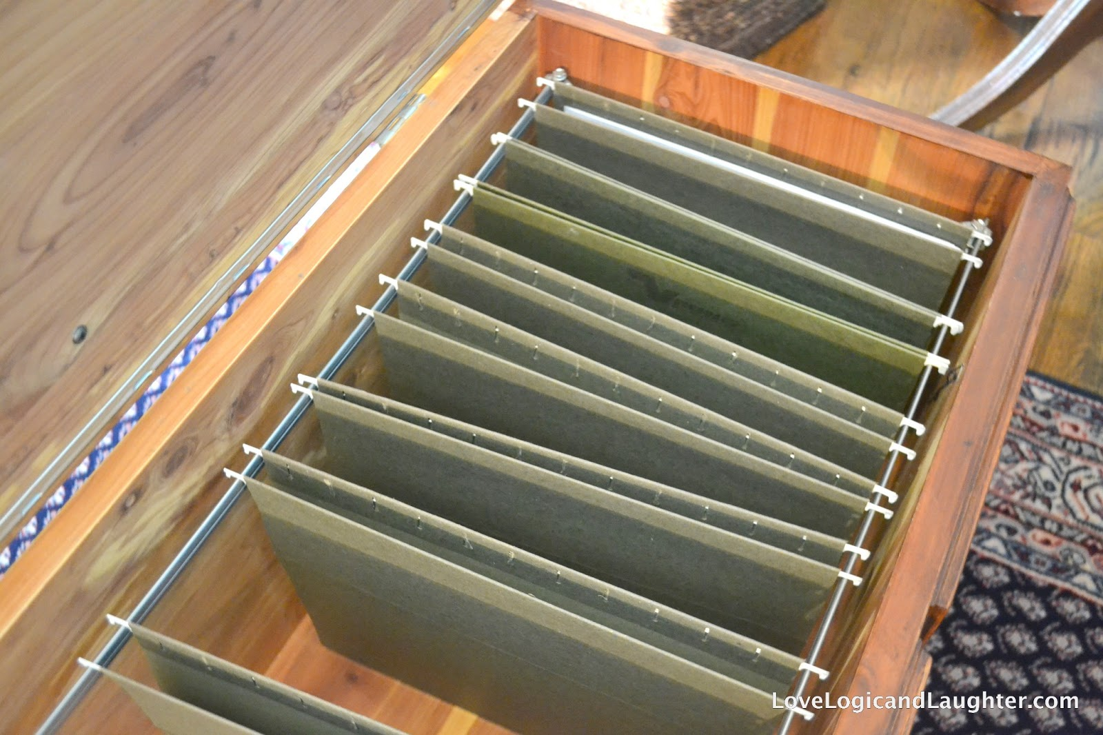 Cedar Chest File Cabinet Ottoman
