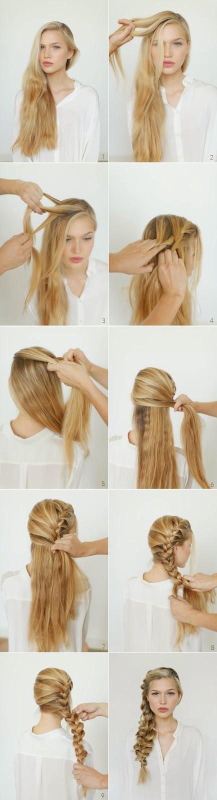 Cara Mengikat Rambut Panjang Ala Romantic Side Braid