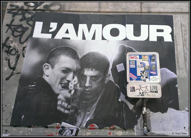 Affiche film La Haine détournée L'Amour street art