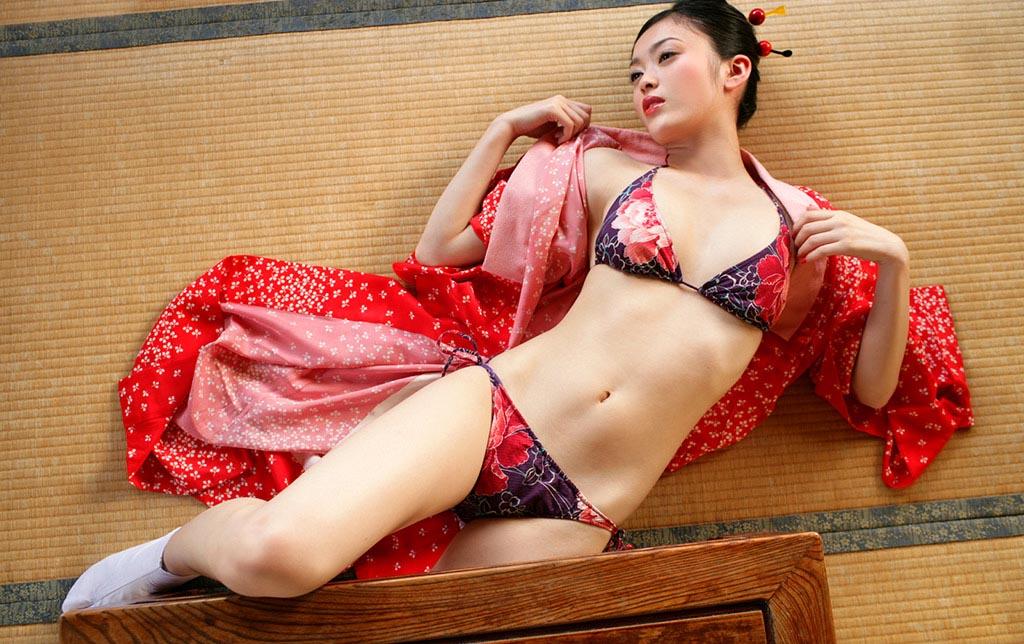 masuki ako sexy japanese kimono photo 05
