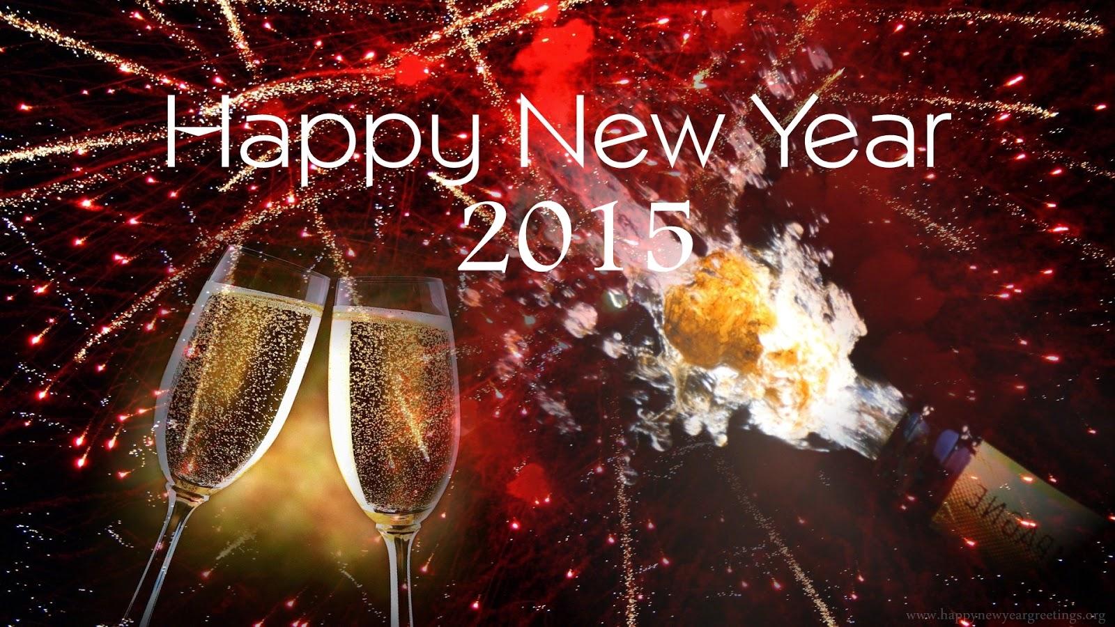 happy new year 2015 - #happynewyear2015 #ToastDrink #Champagne #fireworks