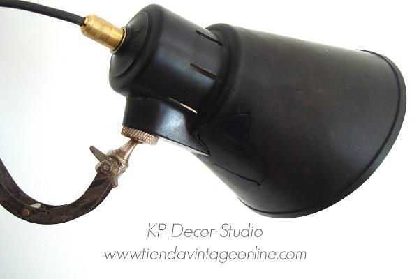 Lámpara estilo industrial. apliques de pared vintage fuelle extensible