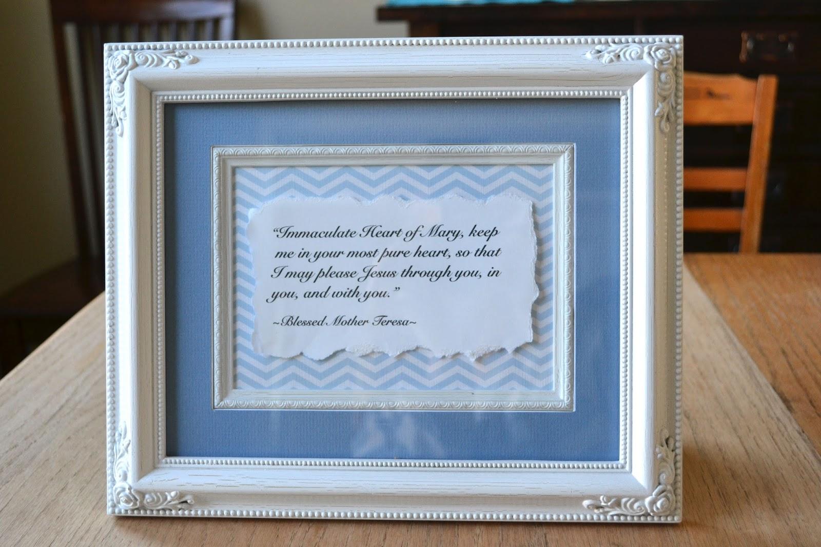 Little Quail: Framed Prayers & Printing Tutorial