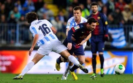 Hasil Pertandingan Malaga VS Barcelona Copa Del Rey Tadi Malam 25 Jan 2013