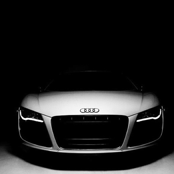 Audi white car