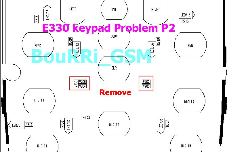 v3i mic solution. samsung e330 keypad solution