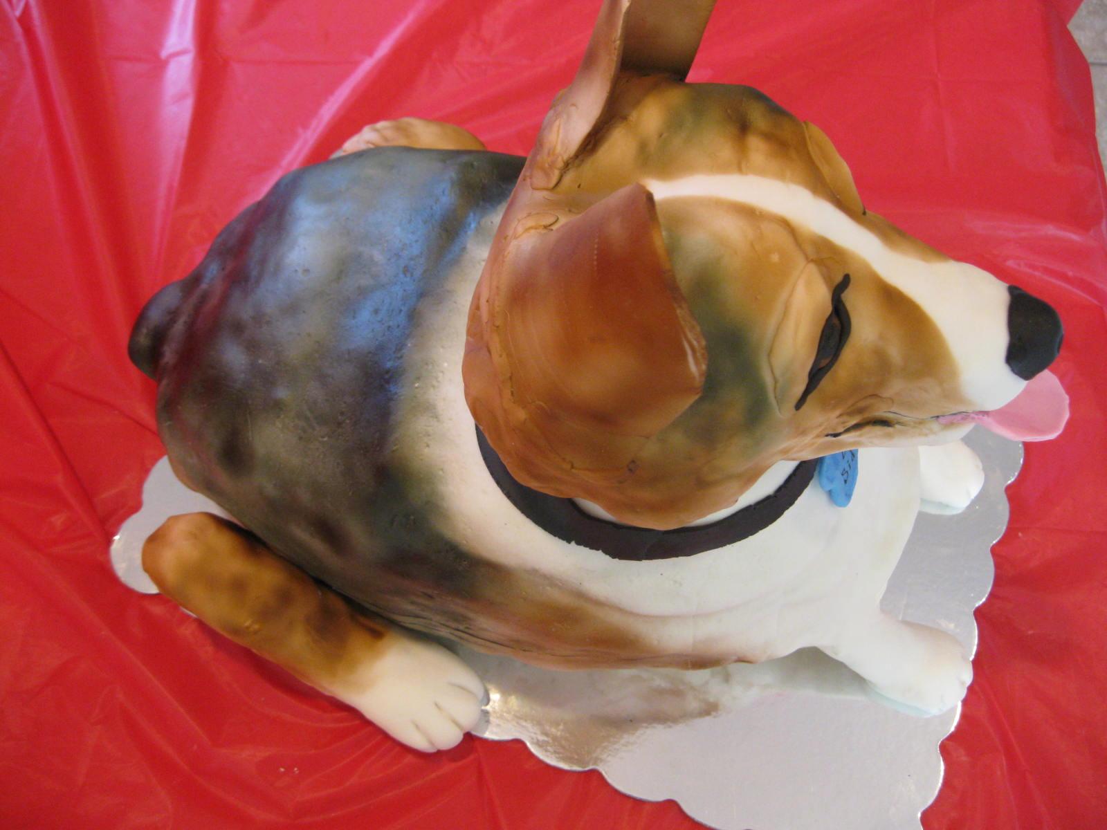 Cake Decorating Sculpting Figures : Cake It From Me: Corgi dog sculpted cake