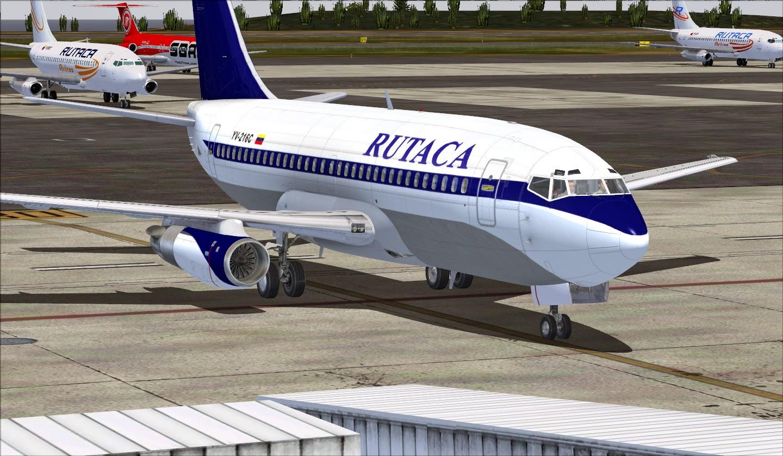 RUTACA Old Colors YV-216C Textura Para Milviz 737-200
