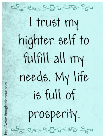 Affirmations for Prosperity