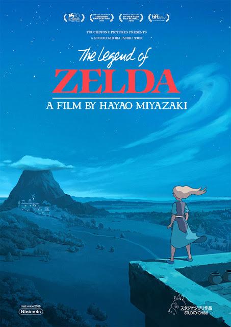 Pierwszy plakat filmu The Legend of Zelda Studia Ghibli z Księżniczką Zeldą