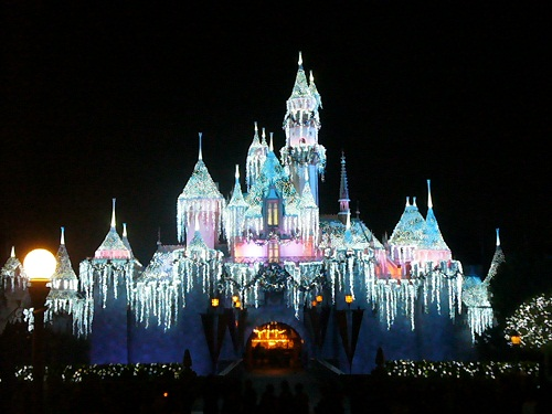 Disneyland Aurora Castle Christmas Lights