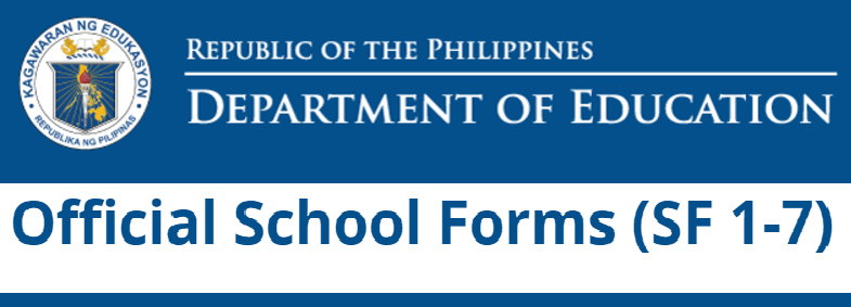 REVISED SCHOOL FORMS (SF 1-7)